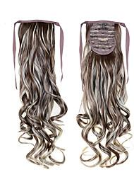 abordables -alta calidad con cordón cola de caballo 22inch 55cm 100g barato # 8/613 color mezclado para las señoras hermosas colas sintéticas