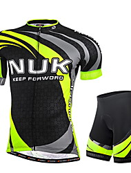 cheap -Nuckily Cycling Jersey with Shorts Men's Short Sleeves Bike Jersey Shorts Clothing Suits Ultraviolet Resistant Breathable Reflective