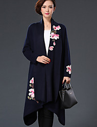 cheap -Women's Chinoiserie Coat-Solid Colored,Embroidered