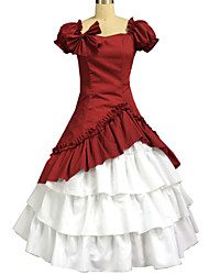 baratos -Lolita Clássica e Tradicional Lolita Mulheres Vestidos Cosplay Manga Curta Comprimento Longo Trajes da Noite das Bruxas