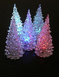 Christmas Tree  Colorful Changing LED Desk Decor/Table Lamp Light Transparent Christmas Tree Led Night Light