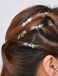 cheap -Women Casual Hollow Snowflake Pattern Hairpin Hair Clips Alloy Hair Accessories 5 Piece