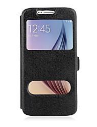 levne -Carcasă Pro Samsung Galaxy Samsung Galaxy Note se stojánkem / s okýnkem / Flip Celý kryt Jednobarevné PU kůže pro Note 5 / Note 4 / Note 3