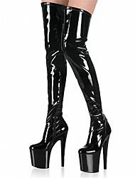 Недорогие -Жен. Обувь Лакированная кожа Весна Лето Осень Зима клуб Обувь Обувь с подсветкой Ботинки Обувь на каблуках На шпильке Сапоги выше колена