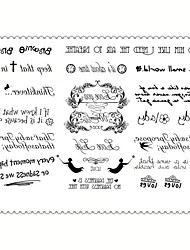 5 Tatuaggi adesivi Serie gioielli / Serie animali / Serie fiori / Serie totem / Altro / Cartoon Series Non Toxic / Fantasia / Waterproof