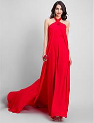 economico -A tubino All'americana Strascico di corte Chiffon Serata formale Vestito con A pieghe di TS Couture®