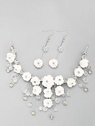Недорогие -Белый Кристалл Комплект ювелирных изделий Включают Белый Назначение Свадьба Обручение