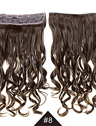cheap -Heat Resistant Synthetic Cosplay Hair #8 24inch 60CM Long Wavy Curly Synthetic Hair Clip In Synthetic Hair