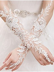 Elbow Length Fingerless Glove Lace Bridal Gloves Spring Summer Fall
