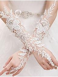 Ellenbogen Länge Ohne Finger Handschuh Spitze Brauthandschuhe Frühling Sommer Herbst