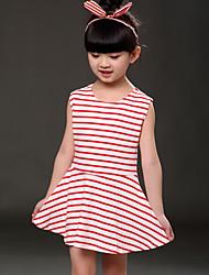 economico -Vestito Girl Casual Con stampe Cotone Estate Blu / Verde / Rosa