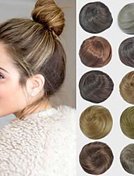 abordables -nupcial updo moño del bollo extensiones de cabello lacio sintéticos para las mujeres negras más colores