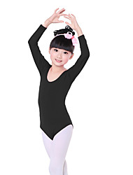 cheap -Ballet Leotards Children's Training Cotton Ruffles Long Sleeves Natural Leotard/Onesie