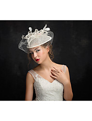 Tulle Flax Feather Fascinators Headpiece
