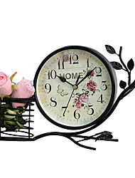 European Style Vintage Iron Desk Alarm Clock