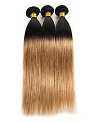 baratos -Âmbar Cabelo Indiano Retas 3 Peças tece cabelo