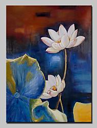 Pintados à mão Floral/Botânico Vertical,Moderno 1 Painel Tela Pintura a Óleo For Decoração para casa