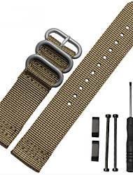 preiswerte -Schwarz / Weiß / Grün / Blau / Braun / Grau / Orange Nylon durable Sport Band Für Suunto Uhr 24mm