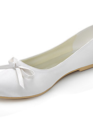 cheap -Women's Shoes Silk Spring Summer Flat Heel Bowknot for Wedding Dress Party & Evening Red Blue Pink Golden Almond