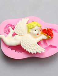 Недорогие -ангел с цветами в руках шоколад силиконовые формы, формы торта, мыло прессформы, инструменты украшения выпекание