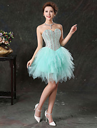 cheap -Ball Gown Sweetheart Knee Length Tulle Cocktail Party Dress with Beading Sequins by SG