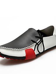 Masculino sapatos Sintético Primavera Outono Solados com Luzes Mocassins e Slip-Ons Caminhada Bico Metálico Para Casual Branco Cinzento