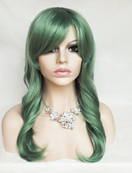 cheap -Synthetic Wig / Cosplay & Costume Wigs Wavy / Natural Wave Pink Asymmetrical Haircut / With Bangs Synthetic Hair Natural Hairline Red / Black / Blue Wig Women's Long Capless