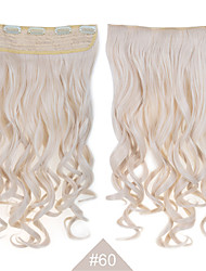 cheap -Synthetic Hair Hair Extension Wavy Clip In Daily High Quality