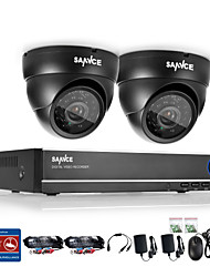 SANNCE® 4CH 720P DVR Surveillance System with 4HD 1280*720TVL Outdoor Security Cameras