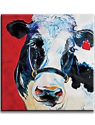 Недорогие -ручная роспись современной коровы животного стиля живопись маслом домашнее украшение