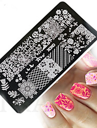 1pcs  New Nail Art Stamping Plates Colorful Image Templates Tools Nail Beauty XY-J12