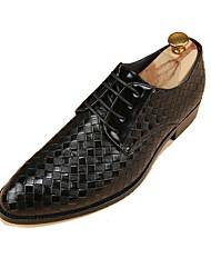 billige -Herre Kunstlæder Forår / Sommer / Efterår Komfort Oxfords Golf Shoes Skridsikker Sort / Gul / Bourgogne / Fest / aften