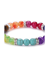 cheap -Colorful Natural Agate Buddha Beads Energy Stone Bracelet  #YMGS1004
