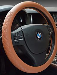 Недорогие -машина руль комплект из кожи, чтобы установить решетку с бриллиантом тиснением не скользят высококачественные чехлы руль