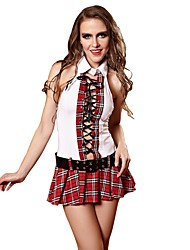 YUIYE® Women Sexy Erotic Lingerie Student Uniform Temptation Cosplay Schoolgirl Sexy Costumes Nightwear Teddy with Belt