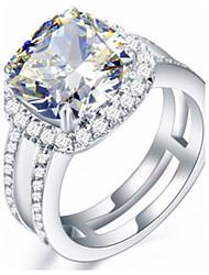 Ringe Modisch Hochzeit Schmuck Sterling Silber / Strass Damen Bandringe 1 Stück,5 / 6 / 7 / 8 / 9 / 8½ / 9½ / 4 Silber