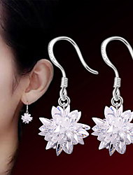 cheap -Women's Earrings - Sterling Silver, Silver Flower Punk, Fashion White For Wedding / Party / Daily