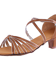 abordables -Mujer Zapatillas de Baile Sintético Tacones Alto Tacón Personalizado Personalizables Zapatos de baile Marrón / Azul / Interior