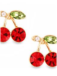 Недорогие -личность выдолбленный вишневый красный рубиновый серьги шпильки элегантный стиль
