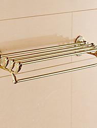 Недорогие -Полка для ванной Современный Латунь 1 ед. - Гостиничная ванна Двуспальный комплект (Ш 200 x Д 200 см)