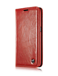cheap -Case For Samsung Galaxy Samsung Galaxy Case Wallet / Card Holder / with Stand Full Body Cases Solid Colored PU Leather for S6 edge plus / S6 edge / S6