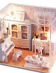 Brinquedos de Faz de Conta Kit Faça Você Mesmo Brinquedos Construções Famosas Casa Arquitetura Madeira Peças Para Meninas Dia dos