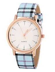 Women's White Case Analog Quartz PU Leather Band No WaterResistant Casual Watch