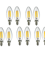 10pcs C35 4W E14 360LM 360 Degree Warm Cool White Color LED Filament Light(220-240)