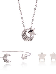 cheap -Women's Jewelry Set - Include Necklace / Bracelet Necklace / Earrings Silver For Wedding Party Daily / Bracelets & Bangles
