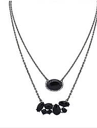 moda colar simples seção longa oval gotas estilo feminino clássico