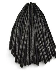 cheap -Black / #1B Crochet Dread Locks Hair Extensions 18 Kanekalon 2 Strand 100 gram Hair Braids