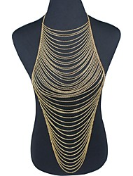 abordables -Mujer Joyería Corporal Cinturones metálicos Para Cuerpo Chapado en Oro Borla Sexy Moda Dorado Joyas Diario Casual Regalos de Navidad1