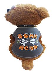 preiswerte -Hund T-shirt Hundekleidung Atmungsaktiv Buchstabe & Nummer Sterne Dark Gray Kostüm Für Haustiere