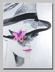 Недорогие -ручной росписью холст живопись маслом современная девушка фигура картина настенной живописи с натянутой рамы готовы повесить